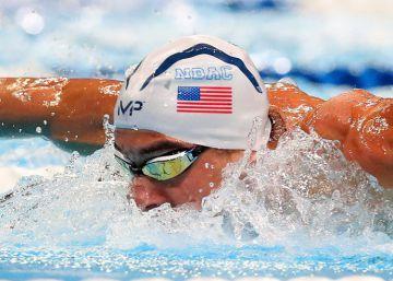 Phelps durante las semifinales de 200 estilos en Omaha.
