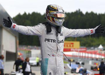 Hamilton se lleva un carrerón en Austria