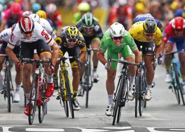 Por un centímetro, Cavendish iguala a Hinault