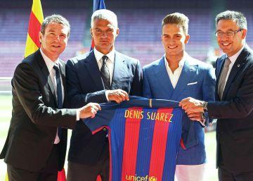 Denis Suárez se mira en Iniesta