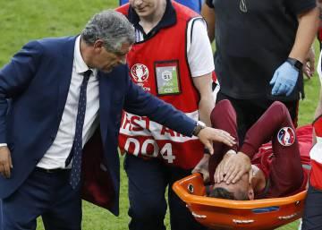 Cristiano Ronaldo se lesiona en la final de la Eurocopa
