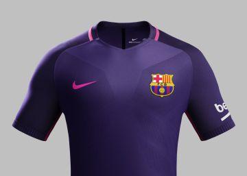 La nueva camiseta púrpura del Barça