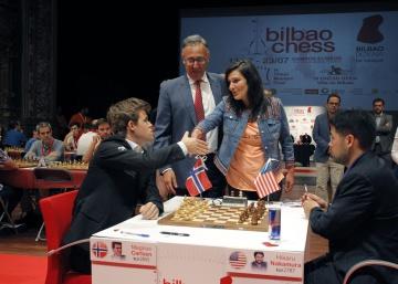 Nakamura tumba por fin a Carlsen, en Bilbao
