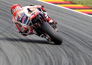Márquez brilla en Sachsenring, Lorenzo suma su tercera caída