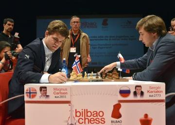 Carlsen va lanzado en Bilbao