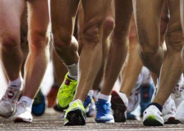 Atletas en la prueba de 20 kms marcha de Londres 2012.