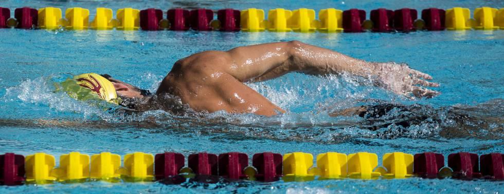 Michael Phelps se prepara para los Juegos Olímpicos de Río de Janeiro, entrenando en la Universidad de Arizona, en Tempe.