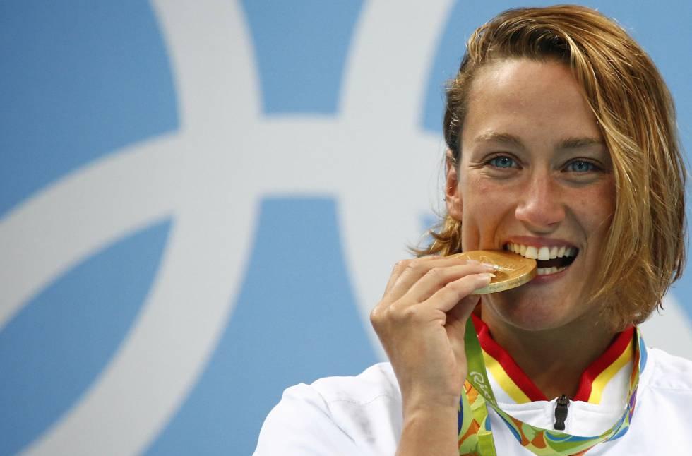 Mireia Belmonte en los Juegos Olimpicos de Rio 2016