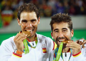 Rafa Nadal y Marc López ganan el oro en dobles
