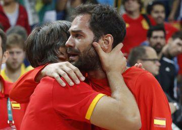 Calderón, emocionado tras conseguir la medalla de bronce en Río 2016.