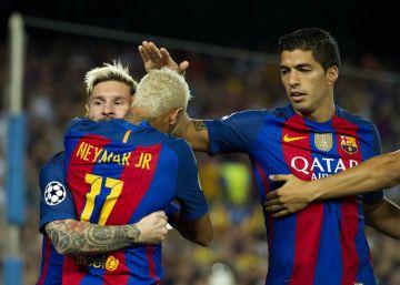 Messi-Neymar, una pareja feliz