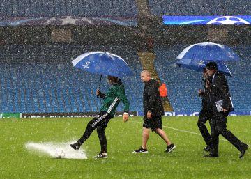 Suspendido el City-Borussia por la lluvia