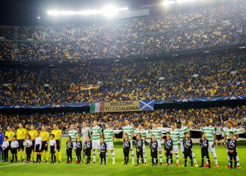 Esteladas y abucheo contra la UEFA