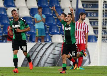 El Athletic se despeña ante el Sassuolo