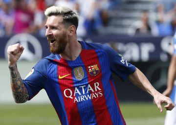 El Barcelona golea al Leganés con una exhibición de Messi
