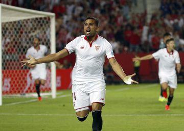 El Sevilla vence 1-0 al Betis en un derbi con más lucha que fútbol