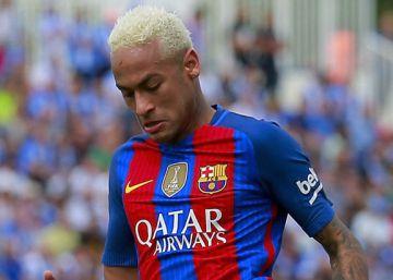 Neymar, el jugador que más faltas sufre en Europa