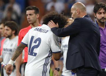 Marcelo sufre una lesión en el sóleo derecho