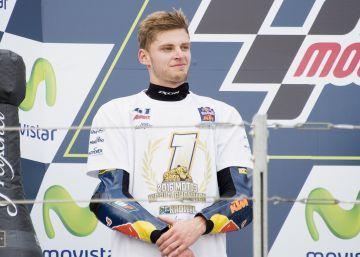 Brad Binder, un madrugador campeón de Moto3 en Alcañiz