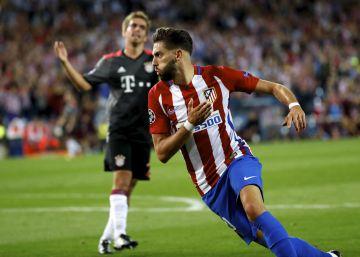 El Atlético de Madrid le gana al Bayern en el Calderón con un gol de Carrasco