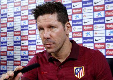Diego Simeone en rueda de prensa.