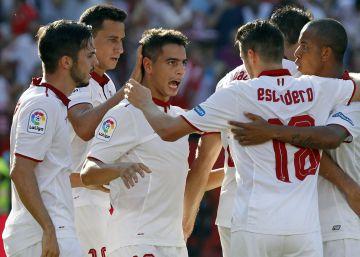 El Sevilla gana de tacón