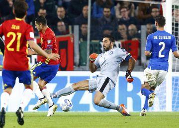 España empata frente a Italia