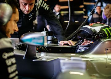 Jorge Lorenzo, un segundo más rápido que Rosberg
