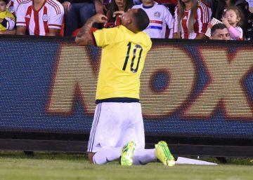 Cardona da el triunfo en el último momento a Colombia (0-1) contra Paraguay