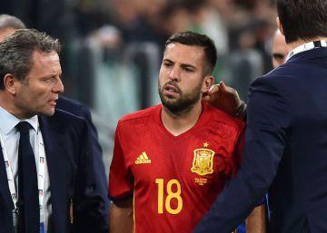 Monreal suple a Jordi Alba, lesionado