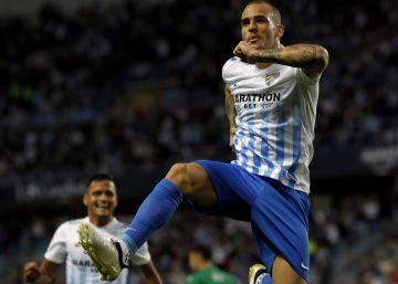 Sandro lidera la goleada del Málaga al Leganés