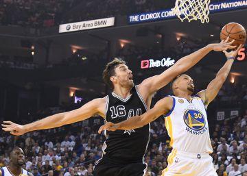 Los Warriors se estrellan ante los Spurs
