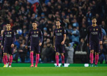 El Barcelona chirría sin Piqué ni Iniesta