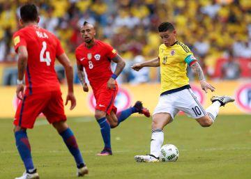 Colombia desaprovecha y empata (0-0) frente a Chile
