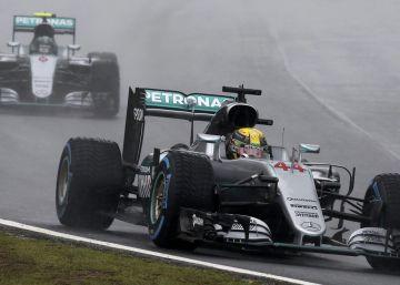 Hamilton arrastra a Rosberg