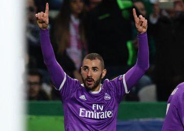 Benzema rescata a un Madrid menor en Lisboa