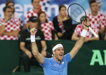 Del Potro remonta ante Cilic y Argentina sueña con la Copa Davis