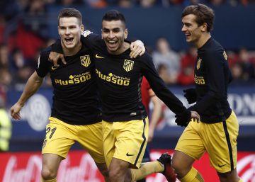 El Atlético castiga la endeblez de Osasuna