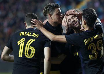 El Atlético se da un festín con el Guijuelo