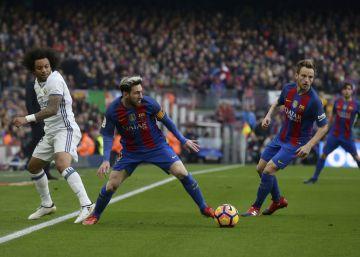 Barcelona y Madrid empatan el clásico a cabezazos