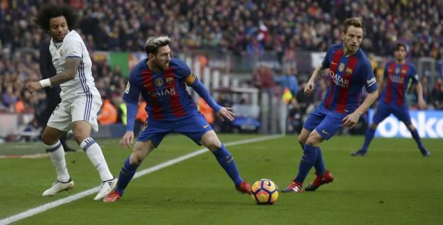 Messi, en el clásico.