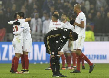 El Sevilla más práctico resiste ante el Olympique de Lyon