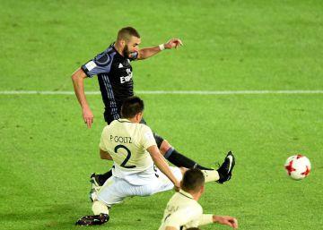 Benzema y Cristiano cobijan al Real Madrid contra el América