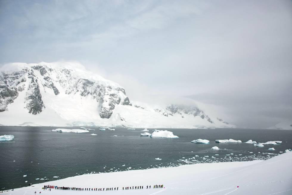 Corredores en la penísula antártica