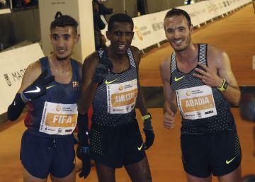 El eritreo Nguse Amsolom y la keniana Brigid Kosgei ganan la San Silvestre 2016