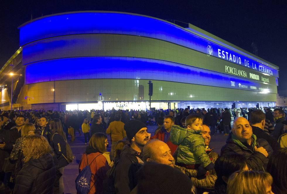 Exteriores de El Madrigal, nuevo Estadio de La Cerámica.