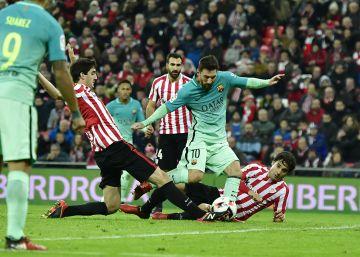 El Barcelona remonta al Athletic y estará en los cuartos de la Copa