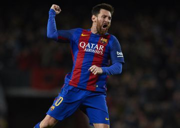 Brindis del tridente del Barça ante el Athletic