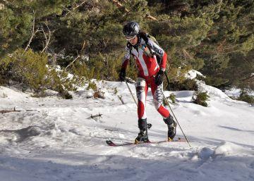 Cronoescalada de esquí de montaña en Valdesquí