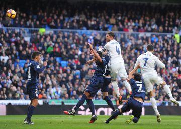 Sergio Ramos, segundo máximo goleador del Madrid en Liga